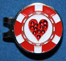 This Bling Heart Poker Chip ball marker comes on a standard hat clip. Chip Hat, Money Clips, Poker Chips, Markers, Golf Stuff, Bling, Diamond, Heart, Sharpies