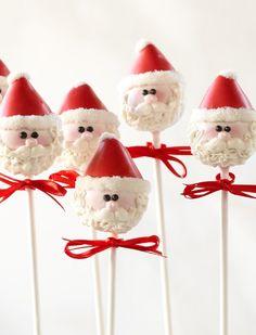 Santa Clause cake pops
