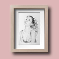 Gisele Bundchen Portrait Drawing, Photo to Sketch, Pencil Sketch. High Fashion Photography, Glamour Photography, Editorial Photography, Lifestyle Photography, Photo Sketch, Saul Leiter, Gisele Bundchen, Handmade Art, Personalized Gifts