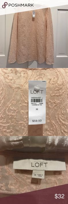 NWT Loft pink lacy top •Brand new never worn chic pink top from Loft. Lightweight and versatile• LOFT Tops