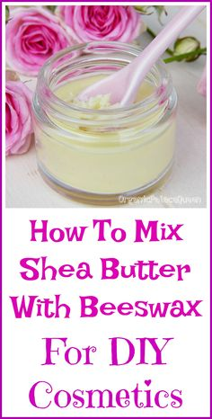 To Mix Shea Butter and Beeswax - Organic Palace Queen How to mix shea butter with beeswax for DIY cosmetics.How to mix shea butter with beeswax for DIY cosmetics. Shea Butter Face, Body Butter, Shae Butter, Cocoa Butter, Diy Lotion, Lotion Bars, Homemade Skin Care, Diy Skin Care, Homemade Moisturizer