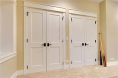 Small Double Doors Interior Image Collections Doors Design Ideas regarding sizing 1200 X 1600 Custom Double Closet Doors - You should compare distinctive d Interior Flat, Interior Closet Doors, Custom Interior Doors, Bedroom Closet Doors, Entry Closet, Double Doors Interior, Home Interior, Master Bedroom, Wood Closet Doors