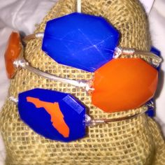 Perfect for Football Season! Only $25 for all three bangles!!! UF Gators Wire Wrapped Bangle Set by BanglesandBurlapFL on Etsy