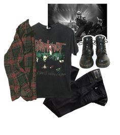 """Untitled #85"" by evamederer on Polyvore featuring AG Adriano Goldschmied and Dr. Martens"