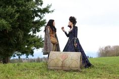 Ginnifer Goodwin and Lana Parrilla in Once Upon a Time