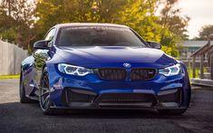 Indir duvar kağıdı BMW M4, tuning, F82, 2018 arabalar, süper arabalar, mavi M4, BMW