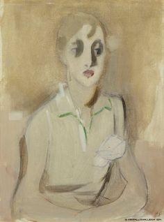 Helene Schjerfbeck (Finnish, 1862 - Modern Schoolgirl (via Finnish National Gallery) Helene Schjerfbeck, Abstract Portrait, Portrait Art, Portraits, Harlem Renaissance, Helsinki, Art Eras, Female Painters, National Gallery