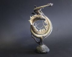 Dragon by lightfigurine on Etsy