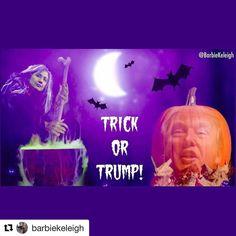 #Repost @barbiekeleigh  I made this lol I edited & combined all the images   #TrickOrTrump  #Halloween #Hillary #Trump  #WickedWitch #Trumpkin  #trump2016 #trumptrain #trumppence #neverhillary #crookedhillary #maga #killary #basketofdeplorables #veteransfortrump #latinosfortrump #womenfortrump #hottiesfortrump #babesfortrump #2a #gunrights #babeswithguns #nra #trumpwon #debate #podestaemails4