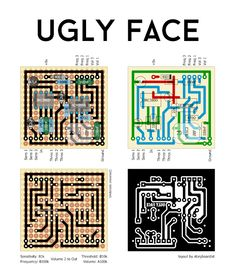 Perf and PCB Effects Layouts: Escobedo Ugly Face Diy Guitar Pedal, Guitar Rig, Music Guitar, Dc Circuit, Circuit Diagram, Guitar Effects Pedals, Guitar Pedals, Ugly Faces, Pedalboard
