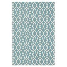 Bring a pop of pattern to your living room or den with this eye-catching cotton rug, showcasing a bold diamond motif in blue.   Prod...