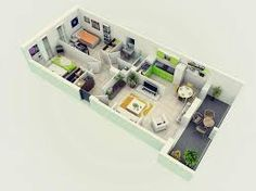 3D Floor Plan Design 1 enpress Pinterest Chief architect