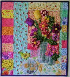 """""""Thinking of Matisse"""" Mini Quilt:"""