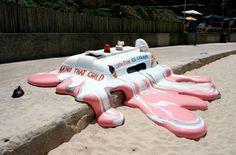 Melting Ice Cream Truck Sculpture