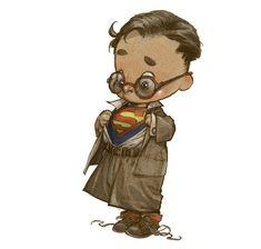 Así de adorables eran los superhéroes de niños