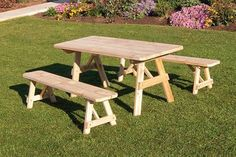 online shopping for Cedar 8 Foot Picnic Table 2 Benches Detached - Stained- Amish Made USA -Linden Leaf from top store. See new offer for Cedar 8 Foot Picnic Table 2 Benches Detached - Stained- Amish Made USA -Linden Leaf Cedar Furniture, Outdoor Wood Furniture, Amish Furniture, Garden Furniture, Modern Furniture, Pallet Furniture, Antique Furniture, Industrial Furniture, Furniture Layout