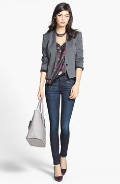 1.STATE Lace Trim Jacket, rag & bone/JEAN Skinny Jeans available at #Nordstrom