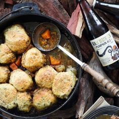 This beef & pumpkin potjie with feta & herb dumpling is really a one pot wonder. The slow cooked beef shin is melt-in-the-mouth. Magazine Recipe, One Pot Wonders, Slow Cooked Beef, Cook Up A Storm, South African Recipes, Dumpling, Barbecue, Slow Cooker, Bliss