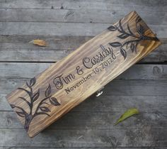 Wine box for wedding anniversary wine box wooden by arrowsarah