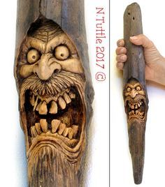 The madness of hatred of the psychosculptor – woodworking – Dremel Wood Carving Faces, Dremel Wood Carving, Wood Carving Designs, Wood Carving Patterns, Wood Carving Art, Bone Carving, Driftwood Sculpture, Art Sculpture, Driftwood Art