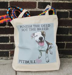 pit bull love tote - dog park publishing 20$