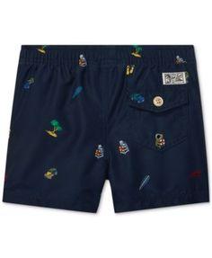 984961138f Polo Ralph Lauren Baby Boys Traveler Print Swim Trunks - Beach  Conversational 12 months