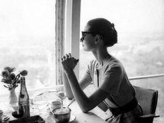 Audrey Hepburn at Ciampino Airport -June 16, 1958.