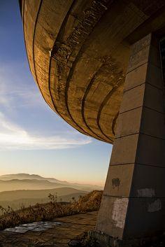The Buzludzha Monument to Bulgarian Socialism (Kazanlak, Bulgaria) by architect Guéorguy Stoilov, 1981. / Spaceship Earth | Flickr - Photo Sharing!