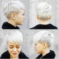 14 More New Short Haircuts for 2017 Summer Season: #5. White Tapered Pixie
