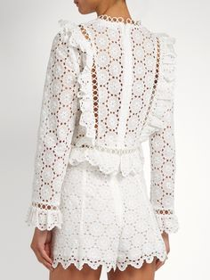 Click here to buy Zimmermann Divinity Wheel broderie-anglaise top at MATCHESFASHION.COM