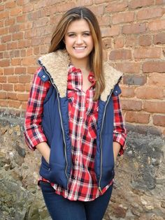 Navy Blue Puffer Vest - $39.99 : FashionCupcake, Designer Clothing, Accessories, and Gifts