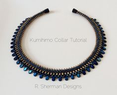 Tutorial to create a Kumihimo Beaded Collar, using with 2-hole and Pip beads.  This PDF tutorial is 7 pages, and contains all the details and step-by-step photos you need to complete your Beaded Collar Necklace, with tips to keep you on track. Final necklace length will be approximately 16.5 (42cm) depending on the clasp you choose. Braided portion of the Collar is approximately 15.5 (39.5cm).  Techniques used: 8 element Kongo Gumi (round braid) and basic off-loom beadwork. Prior experience…