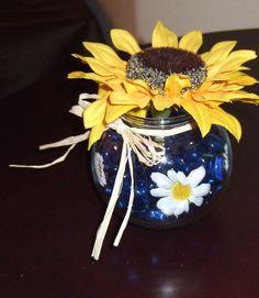 blue and yellow wedding themes | Centerpiece Ideas | Weddings by Jennifer