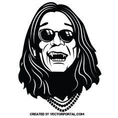 Singer Ozzy Osbourne vector image