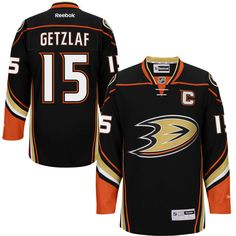 Mens Anaheim Ducks Ryan Getzlaf Reebok Black Premier Player Jersey