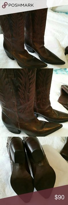 Brown leather cowboy boots new Brown leather cowboy boots by pilgrim pilgrim Shoes Heeled Boots