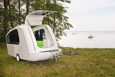 Best New Travel Gadgets - a camping trailer that's efficient on road AND water - you can't fault the innovation!