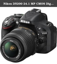 Nikon D5200 24.1 MP CMOS Digital SLR with 18-55mm f/3.5-5.6 AF-S DX VR NIKKOR Zoom Lens (Black) International Version (No warranty). Transforming everyday sights into images that move us. Shooting photos and videos is about more than capturing memories. A great camera brings your creative vision to life with striking clarity. The Nikon D5200 is exactly that type of camera—an exceptional HD-SLR designed to draw exciting new perspectives out of everyone who shoots it. Optimized for…