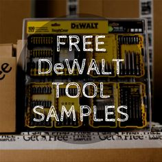 Sign up to get your free DeWalt tool sample delivered to your door for absolutely no charge (not even shipping)! Just take our easy consumer survey to qualify. #diy #homeimprovement