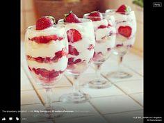 Dessert Joghurt Erdbeeren