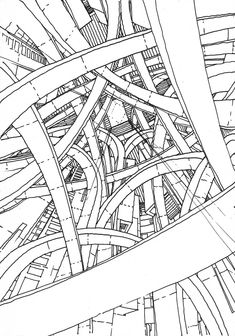 The drawings explore the architectural space freely, without the regular constraints of actual buildings. Anyway the reasons for which we build a space tend to become irrelevant in time. Drawing, you are free to overwrite a couple of hundreds of years, and go see what Architecture born from unknown functions may look like. The drawings on this blog must not be seen simply as drawings - they are Architecture waiting to become real. Drawings by Stefan Davidovici, Architect in Milan.