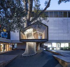 Animating public space modern tree house Jerusalem