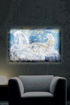 Oliver Gal Gallery Typographic Equestrian LED Lightbox