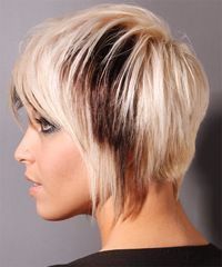 Short, straight, two tone