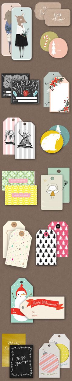 Oh the lovely things: Holiday Roundup Part Two: Free Printable Gift Tags Roundup