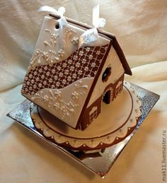 gingerbread house// So so cute!  I like the simple design!