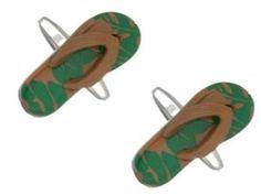 Zennor Camo Flip Flop Cufflinks - Green/Brown   Cufflinks   Fruugo United Kingdom