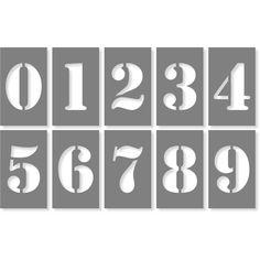 Cursive Numbers, Number Fonts, Number Stencils, Letter Stencils, Campaign Signs, Stencil Font, Custom Stencils, Brass Color, Home