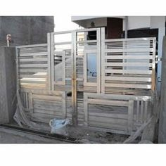 Buy Fancy Steel Gates Gates in Chandigarh India — from Unique Stainless Steel, Company in catalog Allbiz! Modern Steel Gate Design, Steel Grill Design, Steel Railing Design, Gate Designs Modern, Window Grill Design Modern, Grill Door Design, Modern Gates, Stair Railing, Compound Wall Gate Design