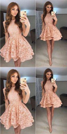lace homecoming dress sleeveless short prom dress short cocktail dress,HS231
